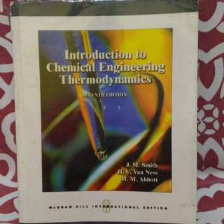 📚Introduction to Chemical Thermodynamics by Van Ness 7th Edition