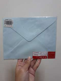 Light Blue 7 in × 5.5 in Envelope
