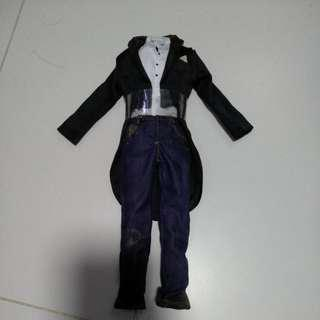 Tuxedo with denim jeans 1/6 scale