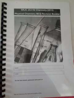 SRJC H2 chemistry MCQ revision booklet