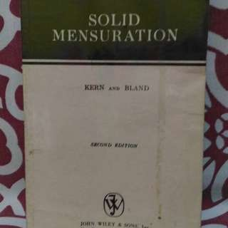 📚Solid Mensuration by Kern and Bland