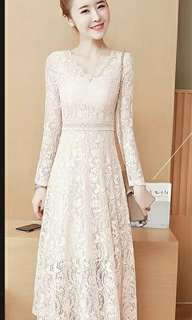 Elegant lace dress - S size