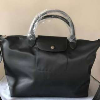 New. Longchamp neo size M. Dark grey, authentic bukan KW/miror