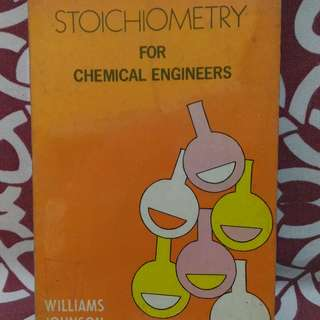 📚Stoichiometry for Chemical Engineers by William Johnson (Orange book)