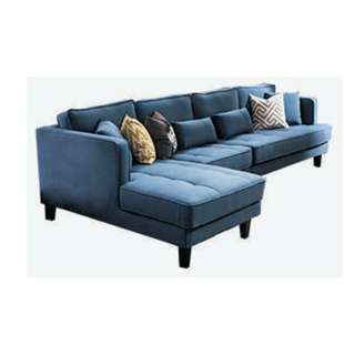 customize fabric sofa with wood footings