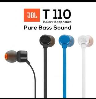 🚚 *AUTHENTIC* JBL T110 Earphones