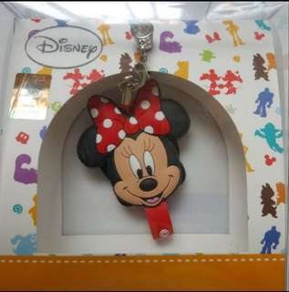 🚚 【Disney】 3.5mm耳機防塵塞吊飾捲線器-史迪奇/米妮