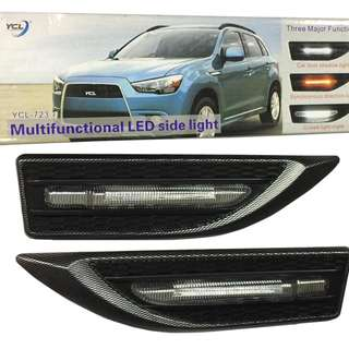 Car YCL Multifunctional LED Side Light 3in1 Universal Side Fender Lamp Light DRL Light + Signal Turn Lights