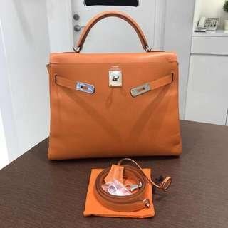 Hermes kelly 32 orange epsom