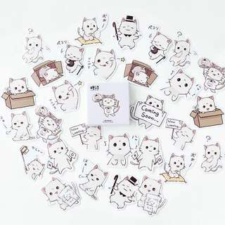 (Instock) Frown Cat Stickers