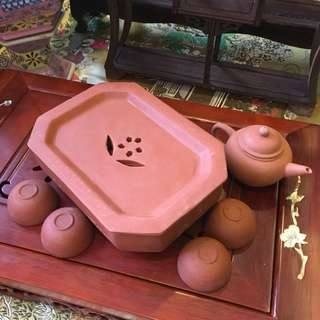 8 Sided Clay Tea Set