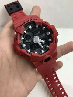 GA-700 RED GSHOCK WATCH