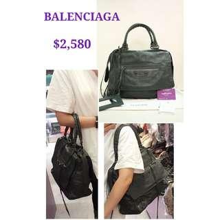 90% New BALENCIAGA 259420 Grey Butterfuy 炭灰色 肩背袋 手袋 Handbag in Antracite