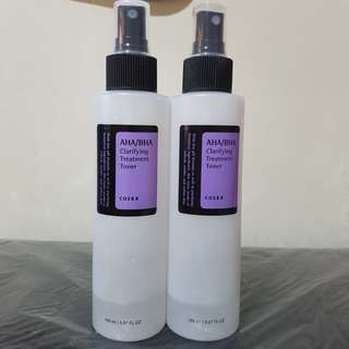 Cosrx aha/bha clarifying treatment toner 25 ml + botol asli