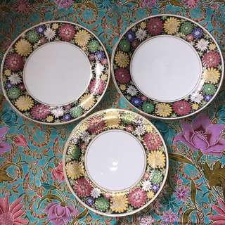 Hand Painted Chrysanthemum Flower Plate All for $38