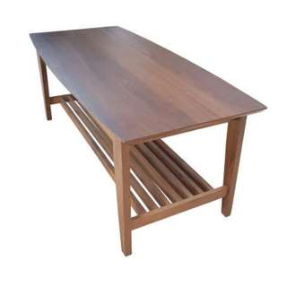 solid wood top and rubberwood frame