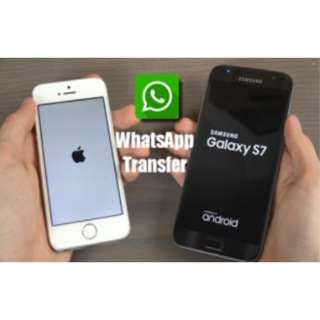 Whatsapp data transfer iPhone to Android