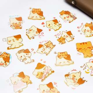 Cats Cats Everywhere Flake Stickers Set