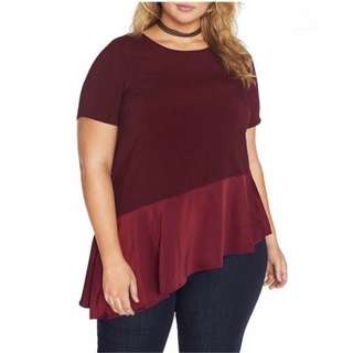 Plus Size Asymmeteic Top