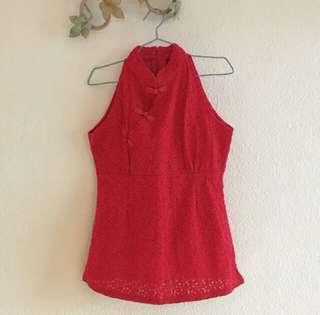 Cheongsam Red Top