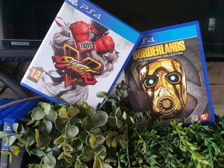 Street fighter 5 and Borderlands Handsome Collection