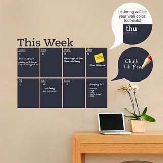 PP BLACKBOARD STICKER WEEKLY A WALL POPS ORGANIZER KIT WALL DECALS