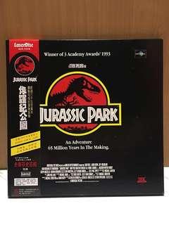 JURASSIC PARK 侏羅紀公園 全套3片鍍金LD 雷射影碟 裝置藝術 造型背景