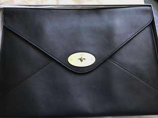 Mulberry Black Envelope Clutch