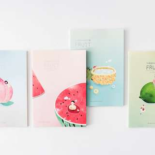Independent of Fruit Ruled Notebook B5