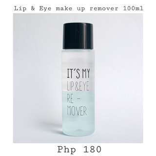 Lip and eye make up remover