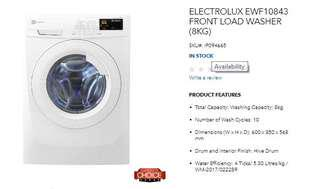 New Electrolux Front Load Washing Machine