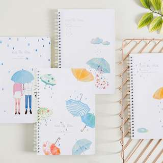 Kiss The Rain Spiral Ruled Notebook B5