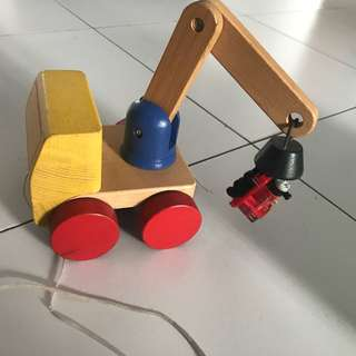 IKEA wooden toy-  crane with magnets