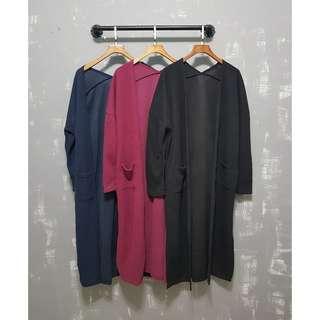 棉長版外套