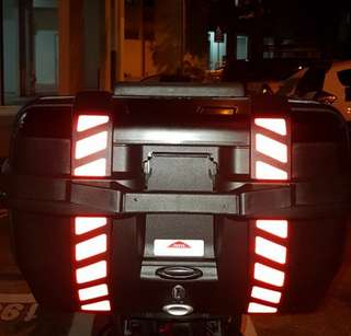 Top Case Reflective Stickers: Givi Trekker, Kappa K-Venture 52L Top Box (Free Postage!)