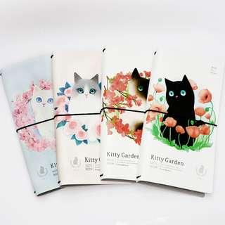 Kitty Garden Leather Travelers Notebook