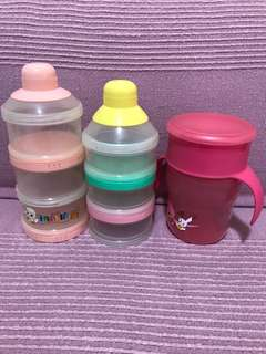 Preloved - Milk powder container and sippy cup