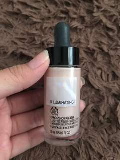 PRELOVED - ORIGINAL THE BODY SHOP TBS ILLUMINATING DROPS OF GLOW LUSTRE FINISH CREATOR