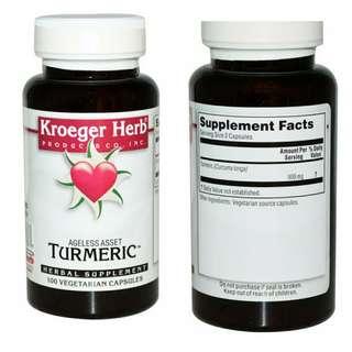 Kroeger Herb Co 薑黃 Turmeric ( 100 Vegetarian Capsule )