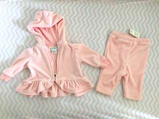 BNWT authentic Ralph Lauren hoodie and pants 2pc set