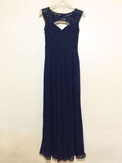 Navy Blue Long Gown for Sale