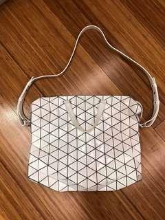 Bao Bao Issey Miyake Messenger White Sling Bag