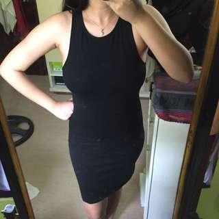 Forever 21 bodycon black dress