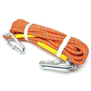 NTR Tali rappelling Safety Climbing Rope 10 Meter - Orange
