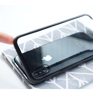 🚚 Full stainless steel magnetic case for iPhone X