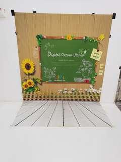 ready stock 150x220 cm kid or baby printing vinyl backdrop