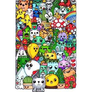 Doodle art posters
