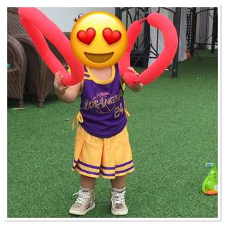 NBA sports costume for baby girl