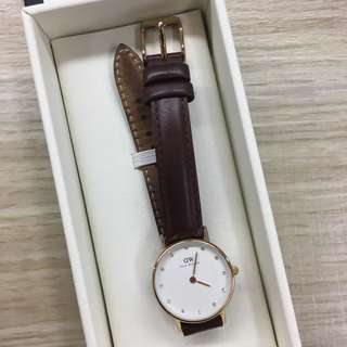 Daniel Wellington Women's 0900DW St. Mawes Analog Display Quartz Stainless Steel Watch with Brown Strap