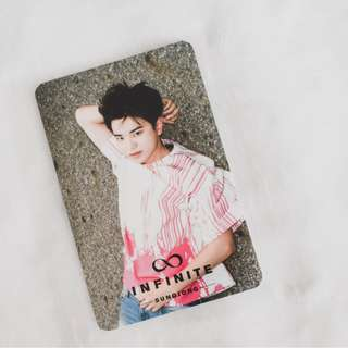 Infinite Sungjong Reality Photocard // Official Korean Press Album PC